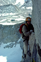 Climber on East Face of Mount Whitney