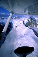 Aerial View of Glacier in Wrangell Elias Range