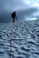 Climber on Glacier in the Cascades