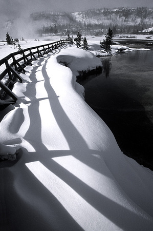 Fence Shadow in the Snow