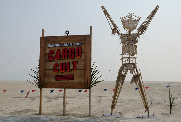 Burning Man Cargo Cult Entrance Sign for Year 2013 by Mad Dog