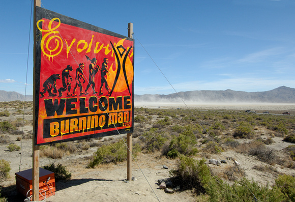 Burning Man 2009 Evolution Sign