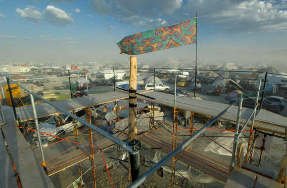 Burning Man Camp during Dust Storm
