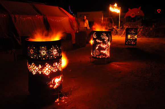 Art Burn Barrels at Burning Man