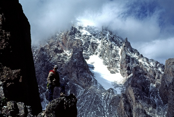 Climber with Grand Teton View