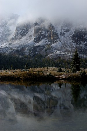 Reflection of Rockies in Mouse Ponds