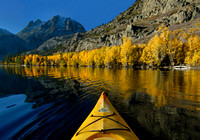 Falls Color at Silver Lake in the Sierras from a Kayak