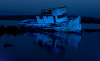 Point Reyes Boat at Night