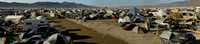 Burning Man Camp Panarama 2009