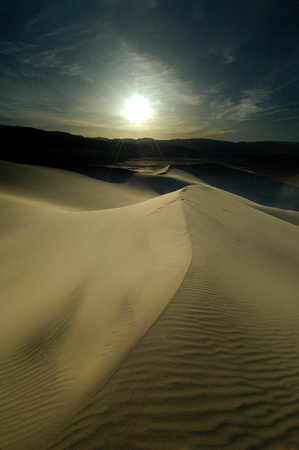 Eureka Dunes Into the Sun