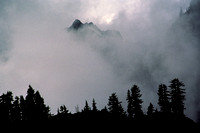 Clouds in Mountain Storm in the Cascades