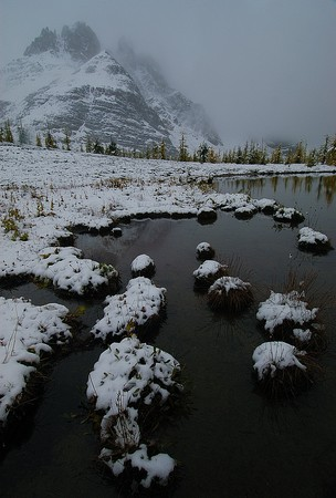 Gog Lake during First Snow