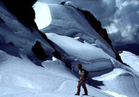 Climber on Blue Glacier on the slopes of Mt Olympus