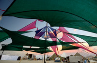 Shade Covers over Yoga Mats at Necter Village