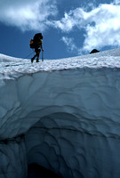 Climber Crosses Glacier in Ptarmigan Traverse