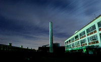 Mare Island Smoke Stack at Night